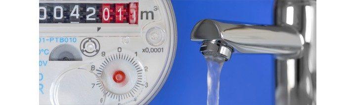 Šetřič na vodovodní baterii a vodoměr