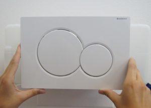 Panel dvoutlačítkového WC