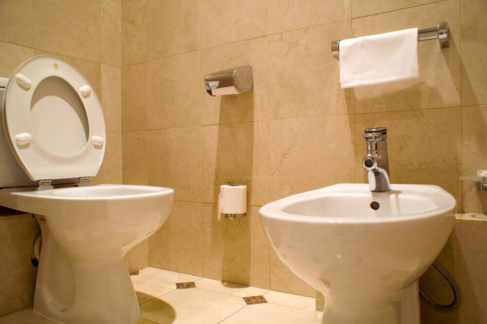 Bidet a záchodová mísa